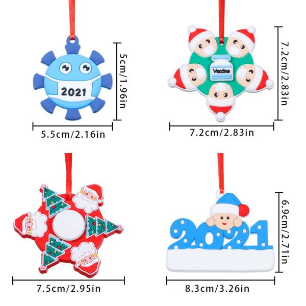 Christmas Tree Ornaments Doll Charm 5 5