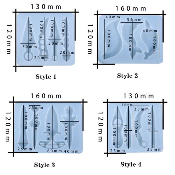 Shuriken hartsform silikonform STIL 4