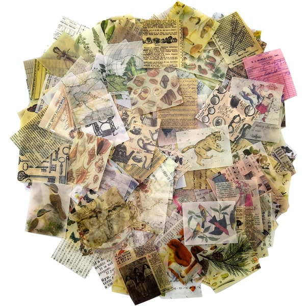 366PCS Vintage Scrapbooking DIY Material Pappersutsmyckning
