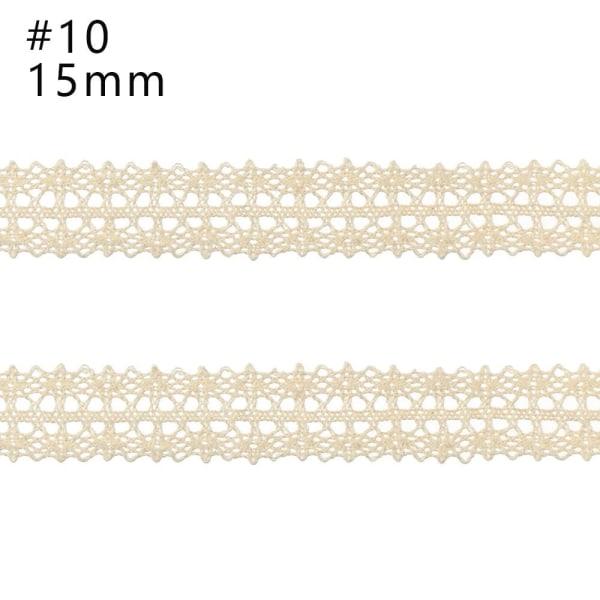 Beige spets DIY-material Bomullsmaterial 10