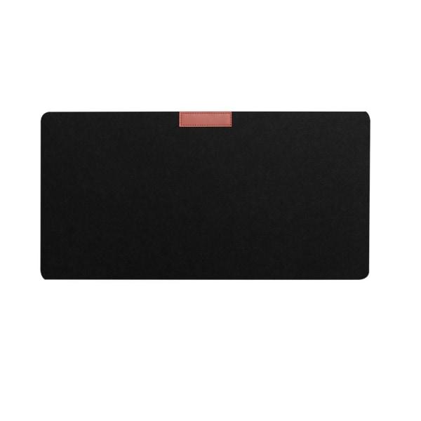 Skrivbordsmatta Musmatta Tangentbord Mössmatta SVART 900 X 300 MM