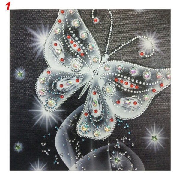 5D Diamantmålning Korsstygn Speciell form Strassstenar 1