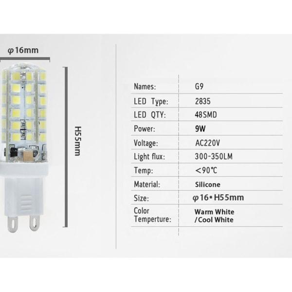 G9 LED-ljus Halogenlampa Spotlight Bulb WHITE 104LEDS