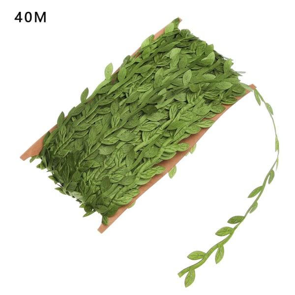 5M 10M 20M 40M 77M Konstgjorda Wicker Green Leaves Handgjorda