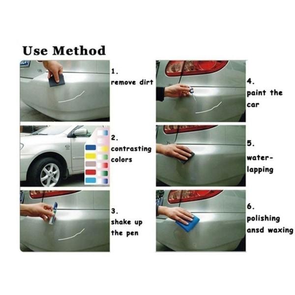 12 ml Car Paint Pen Scratch Repair Coat Clear ICE BLUE
