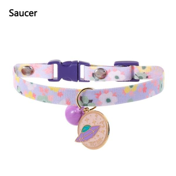1 st Cat Collar Rainbow Silent Bell SAUCER SAUCER