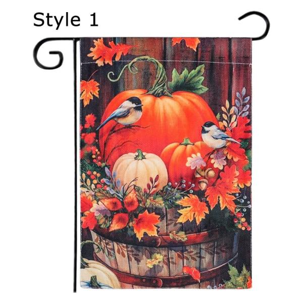 Trädgårdsflagga Höst Thanksgiving Theme STIL 1 STIL 1