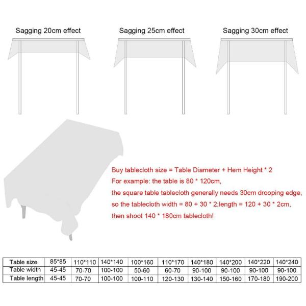 Linne bordsduk Bordsskydd tofsade kanter GRÅ 140X180CM