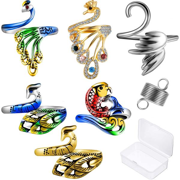 7 delar justerbar stickningslinga ring virkad slinga öppen ring