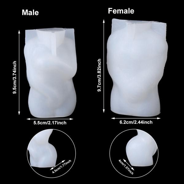 3D kropps silikonform Resin mögel HANN MAN
