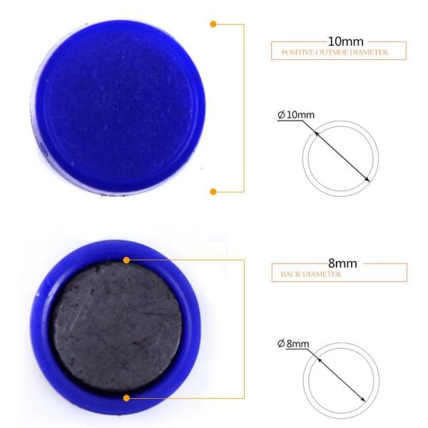 10 MM / 12 ST Kylmagneter Magnetisk klistermärke Heminredning RÖD
