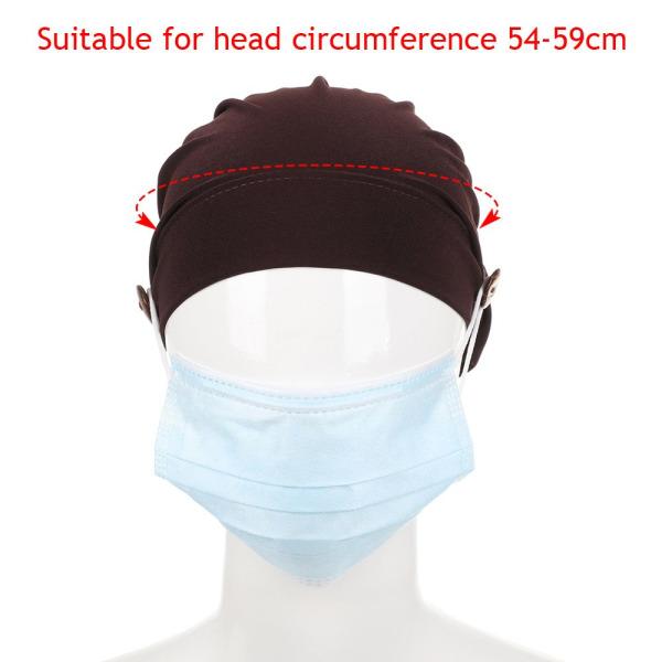 Turban Hat Head Wrap Hat SVART