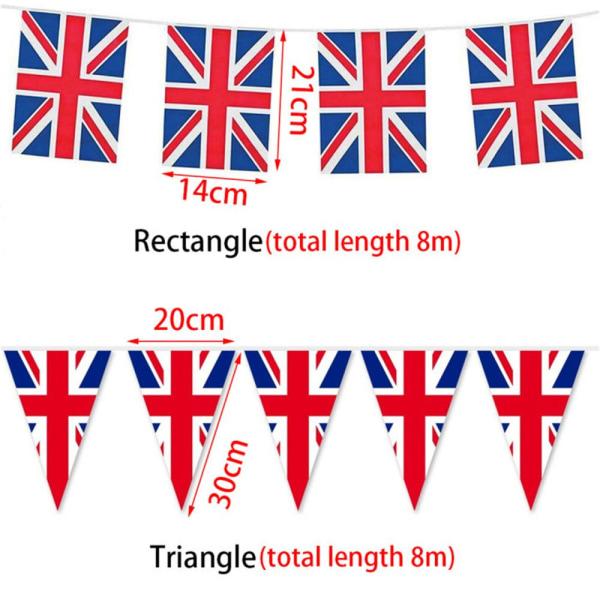 25 flaggor Bunting Banner British Union Jack Britain 75: e
