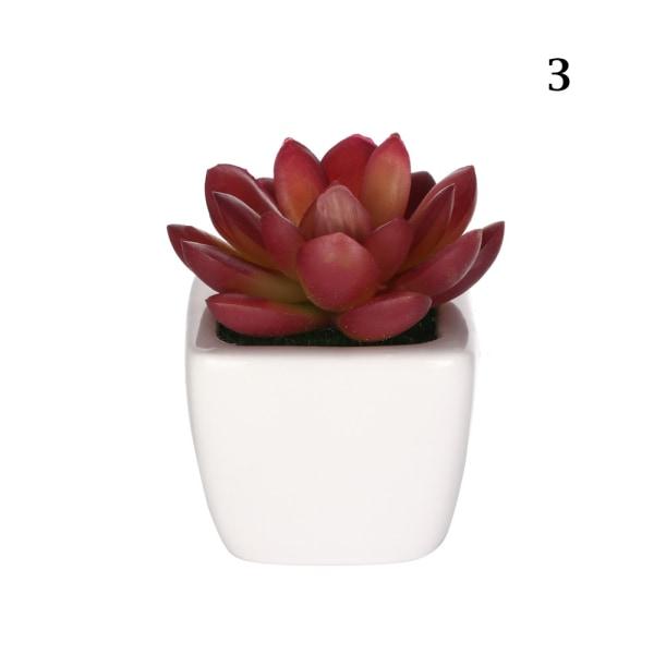 Konstgjorda mini-växter suckulenter falska blommor 3