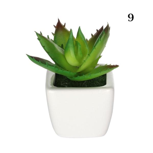 Konstgjorda mini-växter suckulenter falska blommor 9