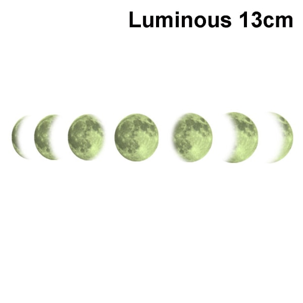 Månfas dekaler Väggdekaler Lunar Eclipse LUMINOUS 13CM