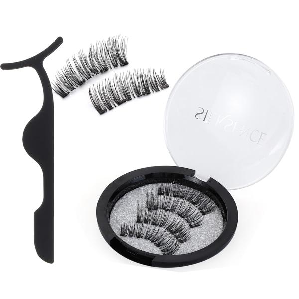 2 par magnetiska fransar utan eyeliner magnetisk falsk