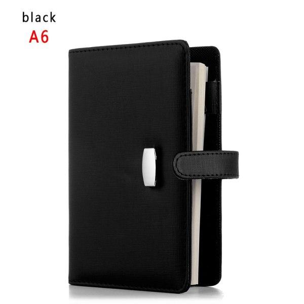 A6 / A7 Anteckningsblock för anteckningsbok för anteckningsblock SVART A6