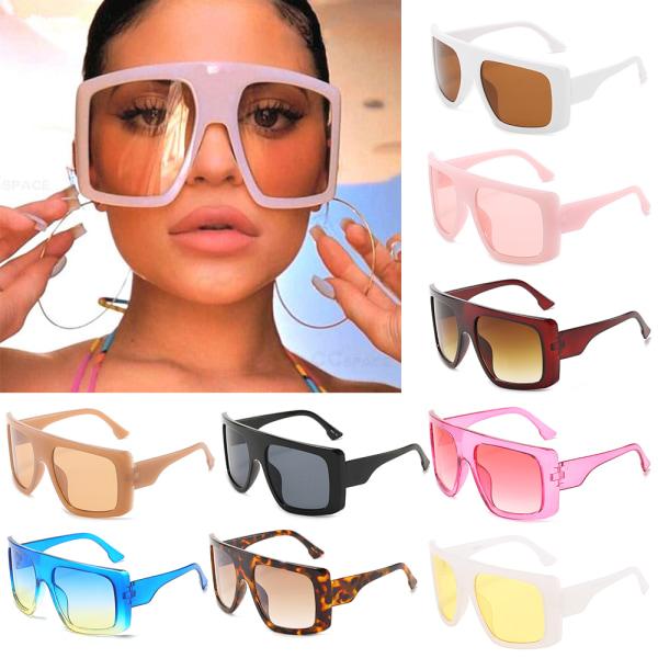 Hela fyrkantiga solglasögon Mode solglasögon ROSA / SVART