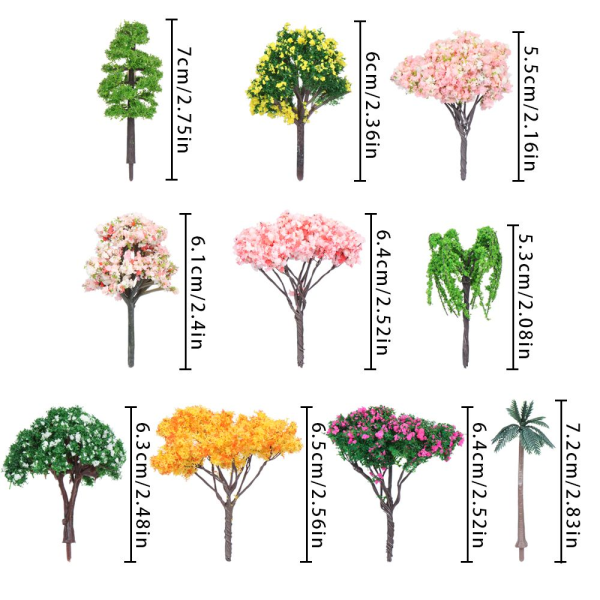 10 stilar Mini Tree Micro Plant 7 7