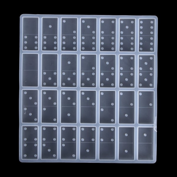 Domino Silikonform Kristallhartsform Epoxihartsformar