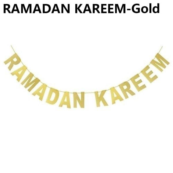 Hanging Flag Bunting Banner RAMADAN KAREEM-GOLD