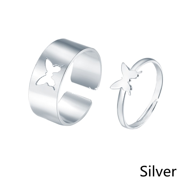 2st Butterfly Ring Hollow SILVER