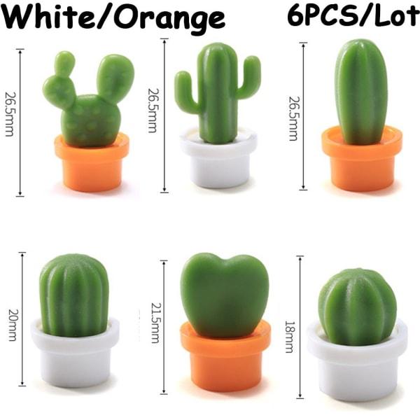6PCS / Lot kylskåpsmagnet magnetiska klistermärken suckulenta krukväxter