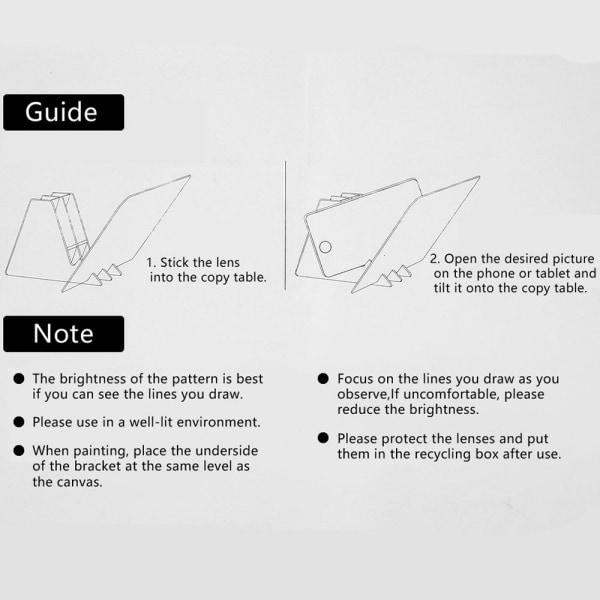 Skiss Drawing Board Optisk bild Ritning målning stativ