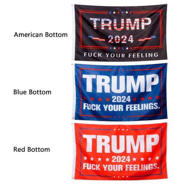 2024 Flagga Trump BLÅ BOTT BLÅ BOT