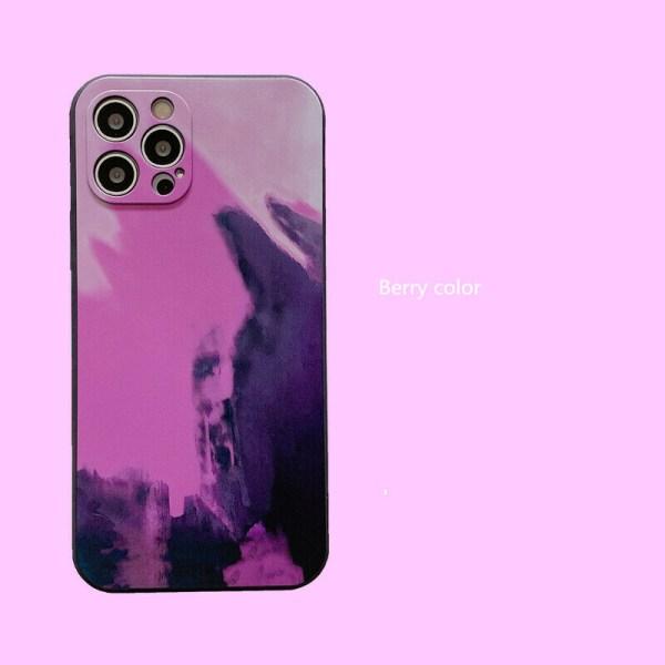 Akvarelltryckt mjukt fodral för iPhone 12 11 X 8 For iPhone SE 2020,04