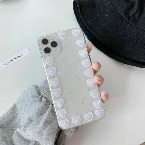 Bling Glitterfodral till iPhone 11 12 MAX Mini 7 8 Plus Love Heart,For iPhone 11