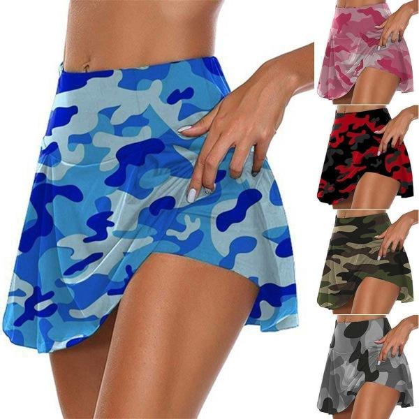 Dam Camo Sportshorts Gym Yoga Workout Mini Kjol Klänning color
