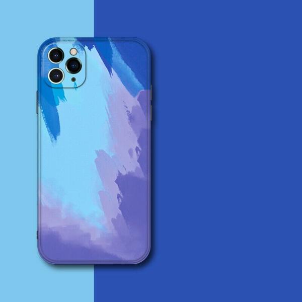 Flytande vattenfärg stötsäker fodral till iPhone B,For iPhone 12 Pro Max 6.7
