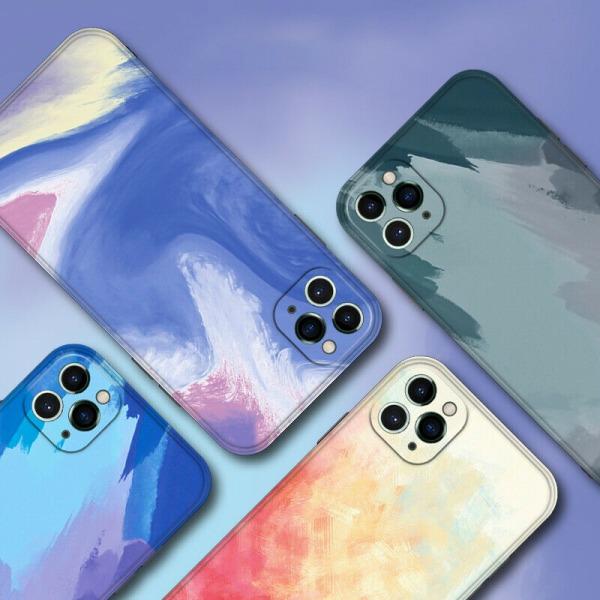 Flytande vattenfärg stötsäker fodral till iPhone B,For iPhone 11 Pro