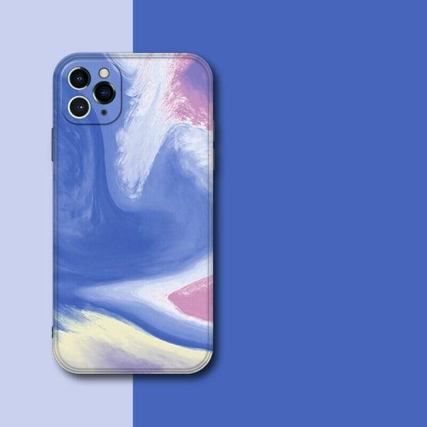 Flytande vattenfärg stötsäker fodral till iPhone D,For iPhone 11