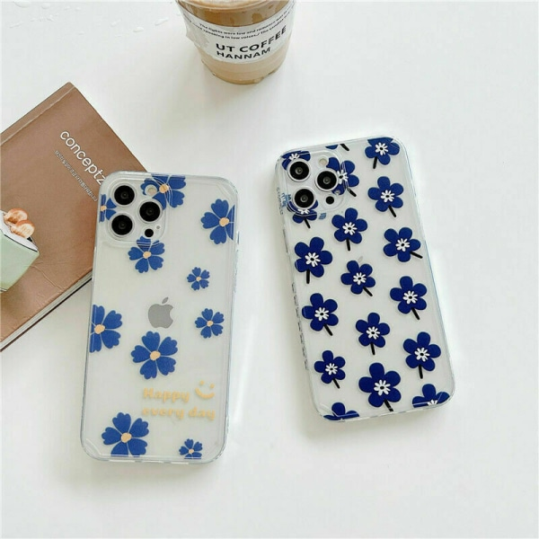 Fodral för iPhone 12 11 Pro XR XS 7 8P Soft Floral A,For iPhone 12 Pro 6.1