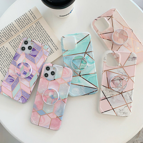 Marmorfodral till iPhone 7 8 Plus XR XS 11 PRO MAX 01,For iPhone 12 / 12 Pro