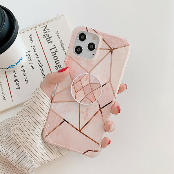 Marmorfodral till iPhone 7 8 Plus XR XS 11 PRO MAX 05,For iPhone 12 Mini