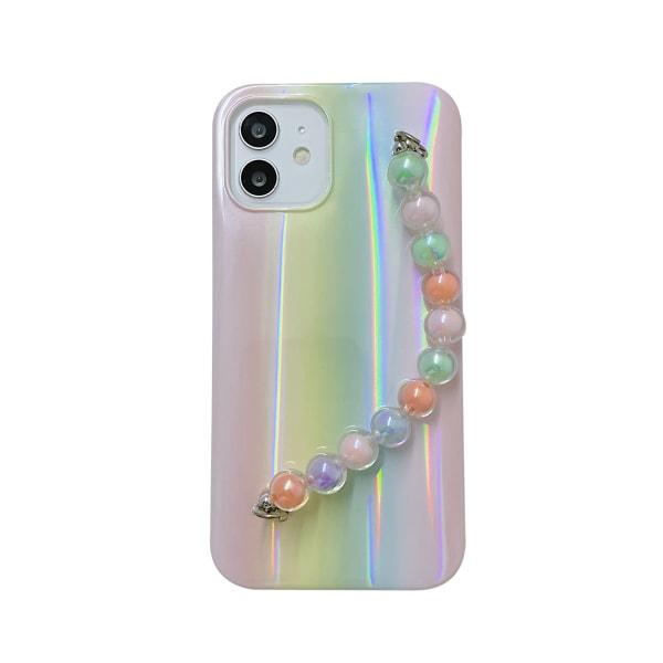Rainbowfodral till iPhone 11 12 Mini Max 7 8 kedja C,For iPhone 11