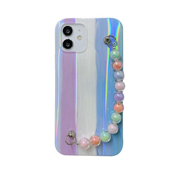 Rainbowfodral till iPhone 11 12 Mini Max 7 8 kedja E,For iPhone 7 / 8 / SE 2020