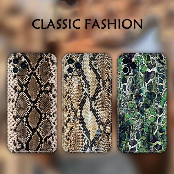 Snakeskin PU läderfodral till iPhone C,For iPhone XS MAX