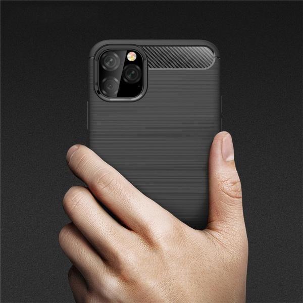 iPhone 11 Pro Max Skal - Anti-Impact Carbon Svart