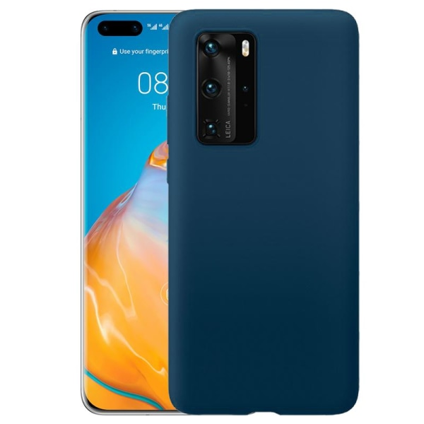 Huawei P40 Pro Silicone Case - Blå Silikonskal Blå