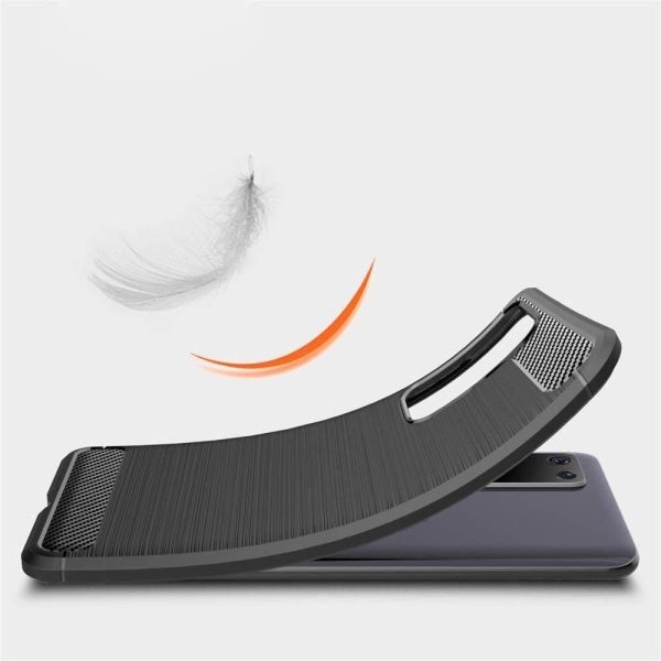 Huawei P40 Pro Exklusivt Stöttåligt Skal - Kolfiber Svart