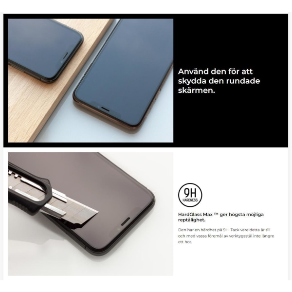 3MK™ FlexibleGlass Max® Skärmskydd Xiaomi Redmi Note 8T Transparent