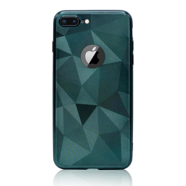 iPhone 6/6s Plus - Trendy Geometric Case Navy Green Grön