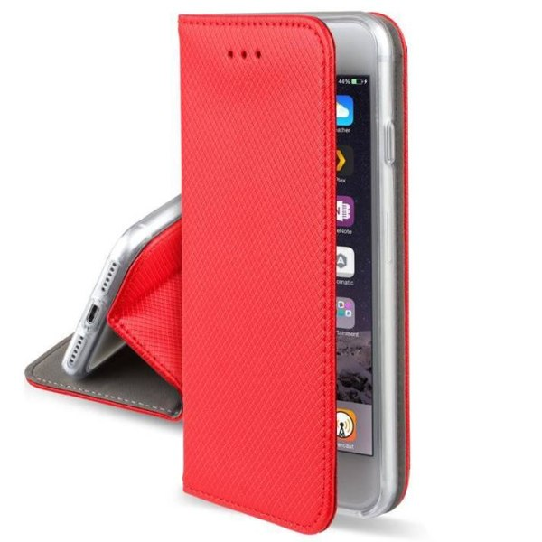 Huawei P40 Lite E Fodral - Plånboksfodral Röd Röd