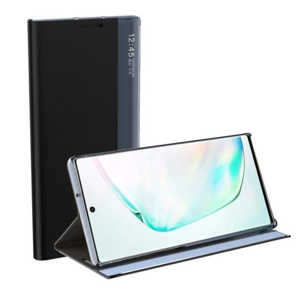 Samsung Galaxy S21 Plus Smart View Flip Cover Fodral - Svart Svart