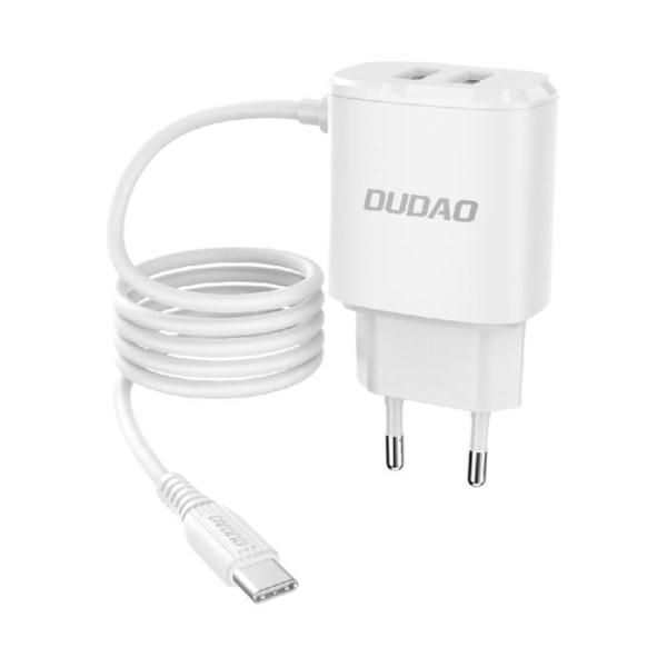 Dudao® Laddare USB-C Samsung/Huawei m.fl. X2 USB 12W Vit